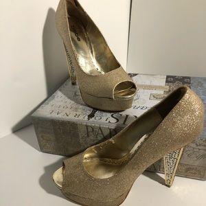 Bebe high heels Gold Size 8